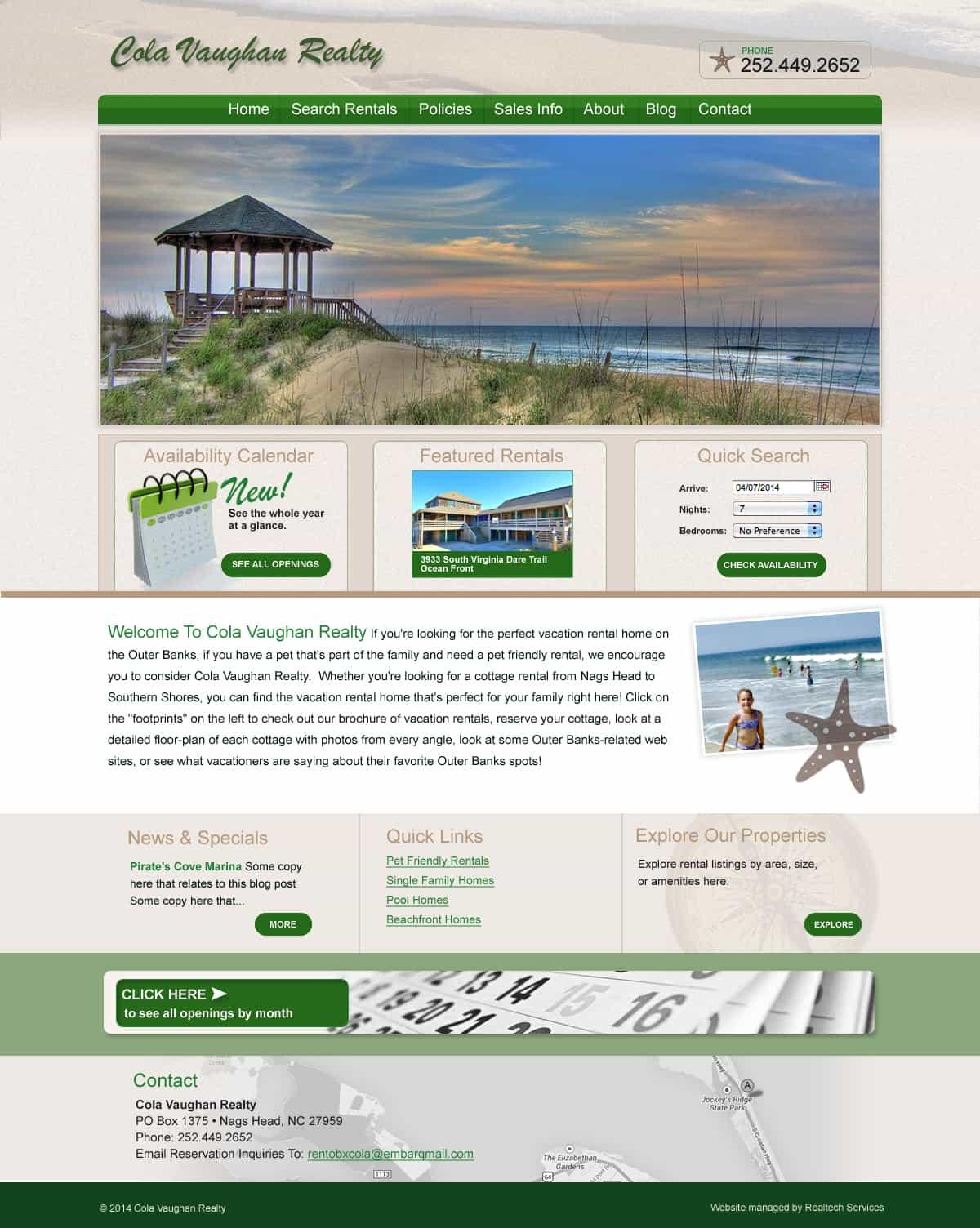 obxcola website design