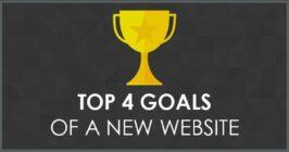 top 4 goals of a new website