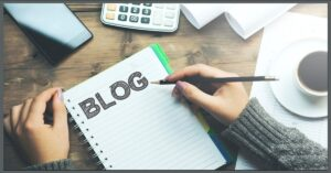 writing in a blog