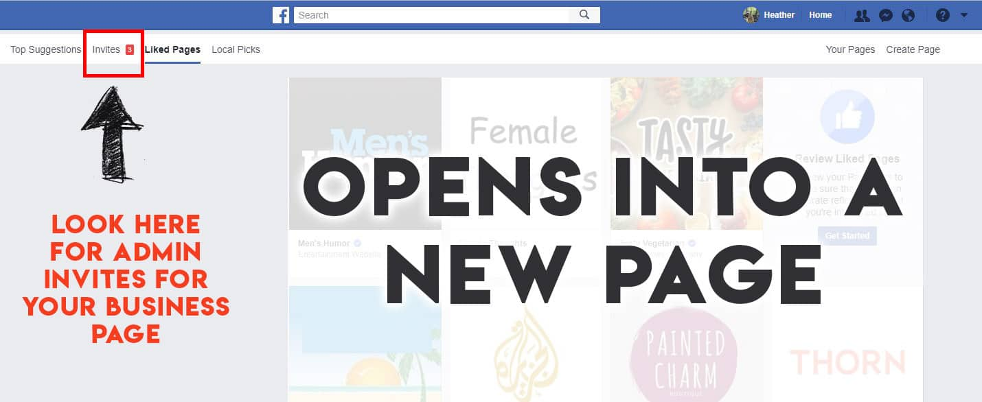 How To Find Facebook Page Admin Invites | RealTech Webmasters