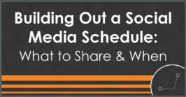 building out a social media schedule
