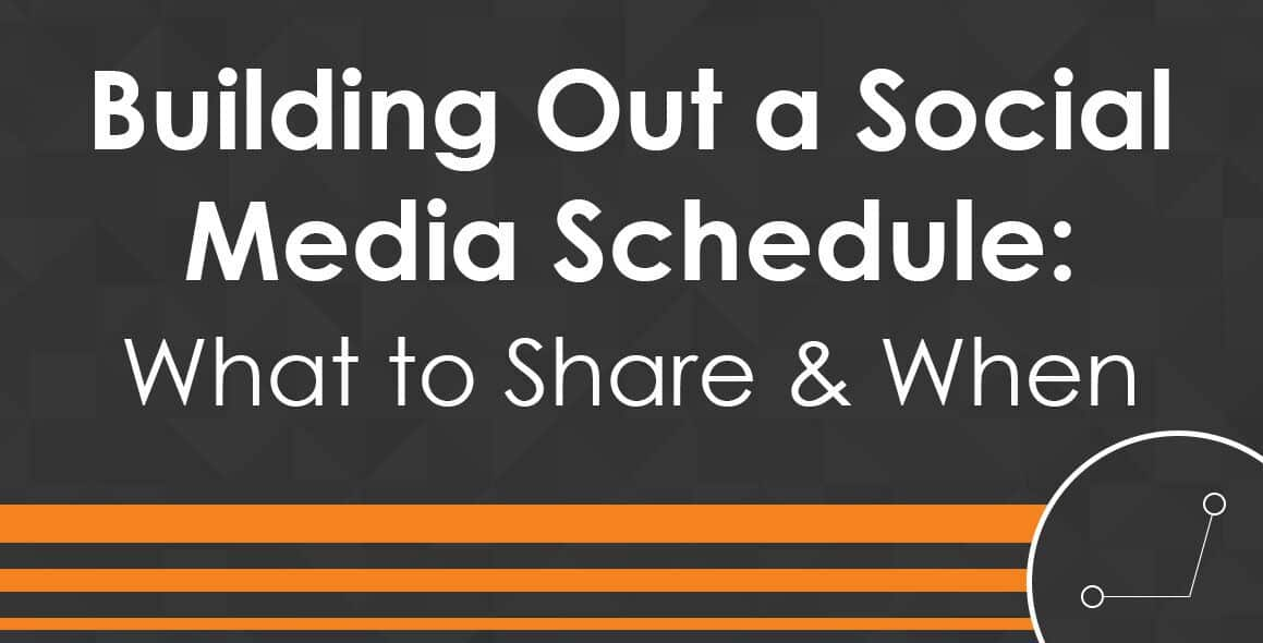 How to Build Out a Social Media Schedule