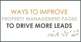 ways to improve property management pages to drive more leads