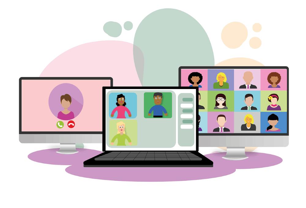 image of cartoon laptop and desktops